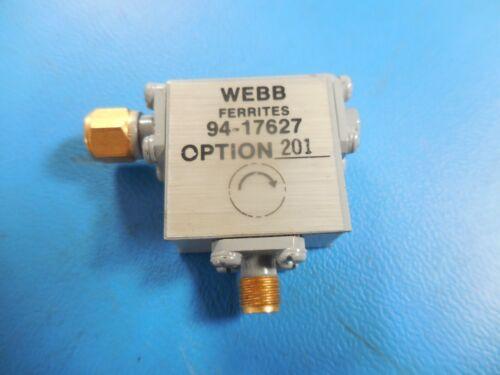 Webb Ferrites 94-17627 Option 201 RF Microwave Isolator