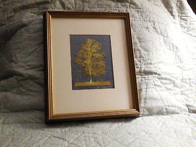 Wynn Hopkins '77 metal etching of solitary tree