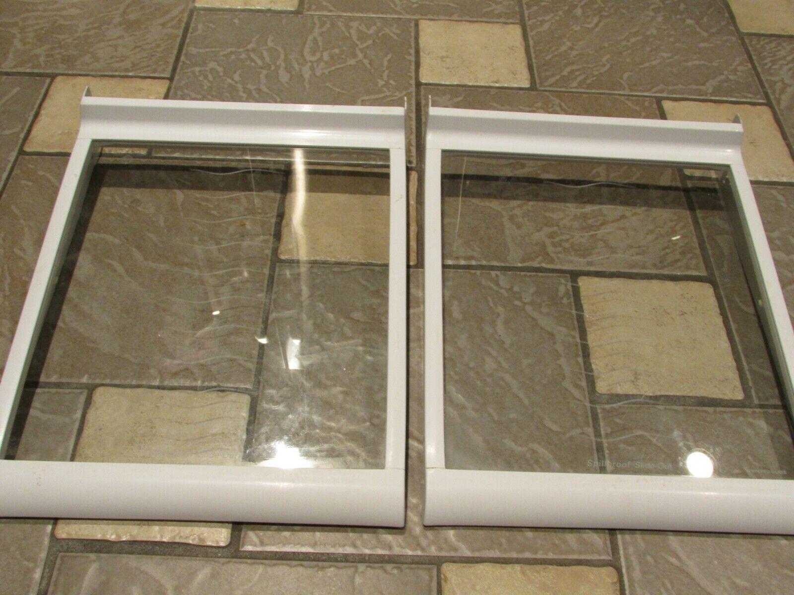 KENMORE REFRIGERATOR SHELVES SHELF SET 2 GLASS SHELF FOR KENMORE FRIG