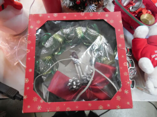 Vintage Ringalite Wreath Door Wall wreath with Light New in Box