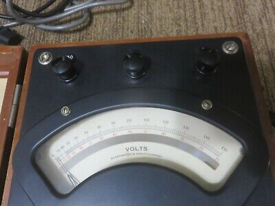 Weston Electric Acdc Volt Meter Model 341 No.14082
