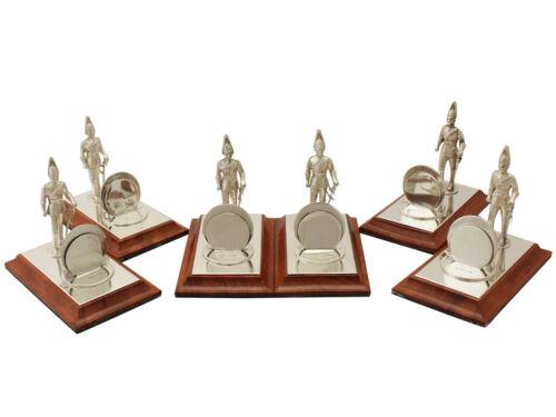 Vintage Set Of Six Sterling Silver Menu Holders - Elizabeth Ii