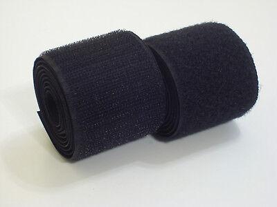 0,35€/m-29,50€/m   Klettband zum Aufnähen   Farbe Schwarz in Industriequalität