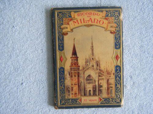Ricordo di MILANO 32 Vedute - Accordion Postcards Souvenir Book