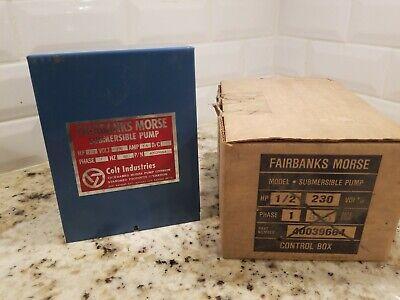 12 Hp 230v Fairbanks Morse Control Box Submersible Water Pump 40039664 A2