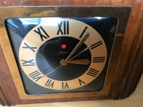 Vintage TELECHRON 4F61 Art Deco Wood Electric Clock - Tested/Working