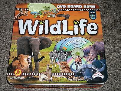 Wildlife DVD Board Game 2006 Serengeti Safari with Hugo van Lawick Complete