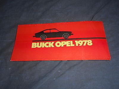 1978 Isuzu Imark Buick Opel USA Market Colors Upholsteries Brochure Prospekt