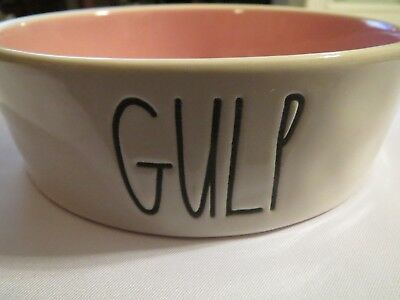 "RAE DUNN by Magenta Ceramic Pet Bowl ""GULP"" Dog Cat Dish"