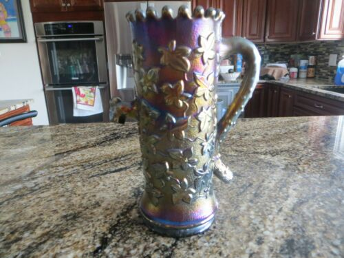 Northwood Town Pump Amethyst Carnival Glass 6.25 Inch