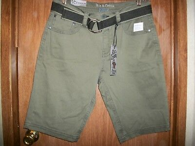 - NWT AXE & CROWN OLIVE BELTED EMBROIDERED STRETCH BOARD SHORT SZ 32 Ret. $44.00