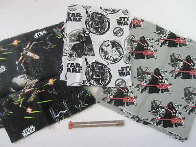 Star Wars Quilt Fabric Sith Lives Matter Cotton Squares Scrap Remnant Usa Mask