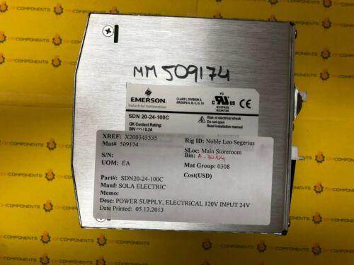 EMERSON SDN20-24-100C POWER SUPPLY
