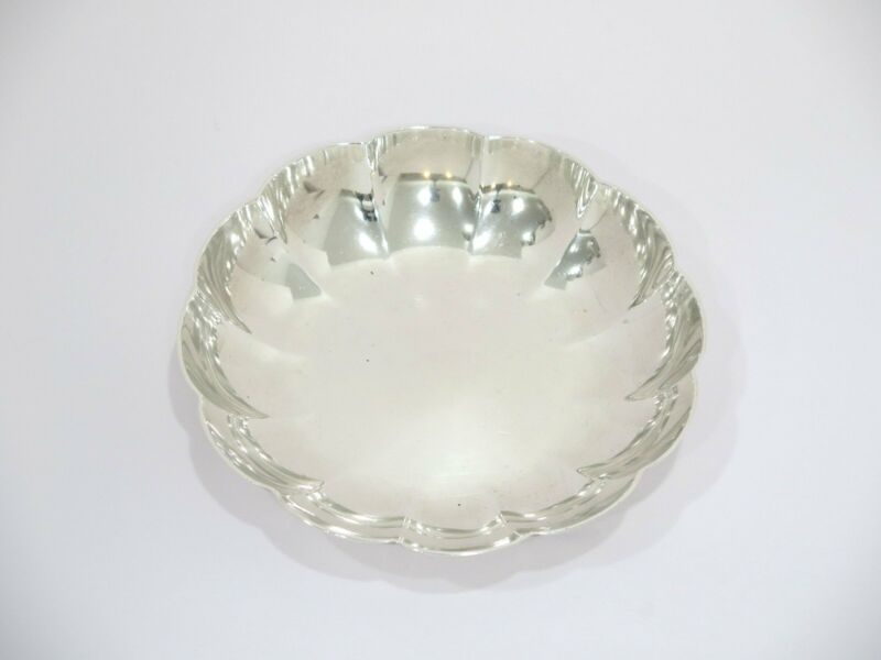 5.25 in - Sterling Silver Tiffany & Co. Antique Wavy Serving Plate