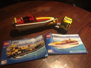 LEGO CITY Speed boat with truck and trailer