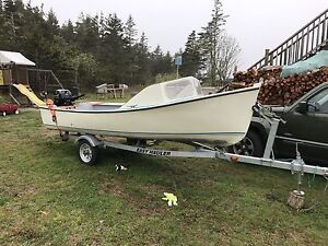 14' Baby Cape Skiff, Motor and Trailer