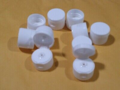 10 Pcs Flip-top Caps For 8 Oz And 16 Oz Bottles Plastic White New Free Shipping