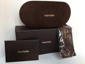 New TOM FORD Eyeglasses Sunglasses Brown Hardshell Package Kit Case