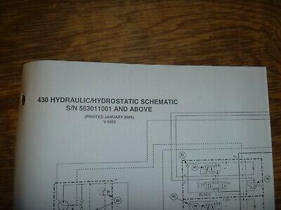 Bobcat 430 Excavator Hydraulic Hydrostatic Schematic Diagram Manual 563011001-up