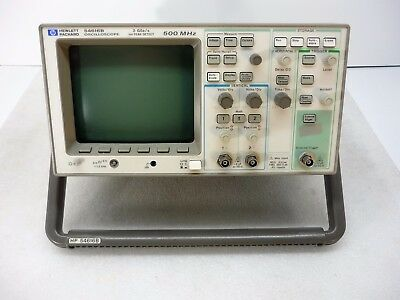 Hp Agilent 54616b 2-channel 500mhz Oscilloscope W 54657a Storage Module