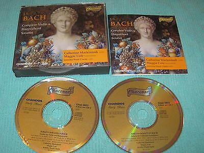 (JS Bach Complete Violin & Harpsichord Sonatas 2 CD Album Catherine Mackintosh  V)