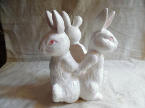 Cute White Rabbit Planter Vase Japan