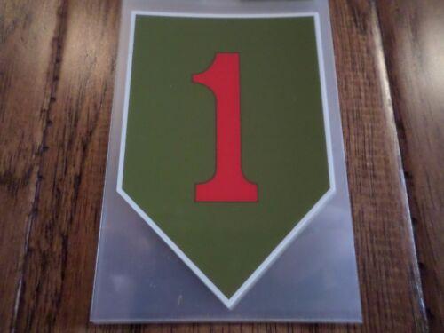 U.S MILITARY ARMY 1ST INFANTRY WINDOW DECAL STICKER BIG RED ONE
