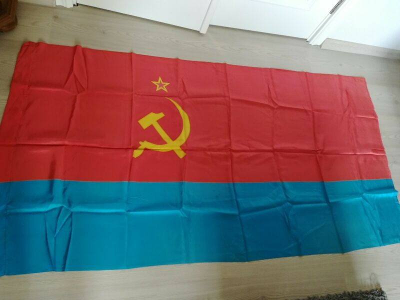 Original Flag of Ukraine Ukrainian Soviet Socialist Republic USSR
