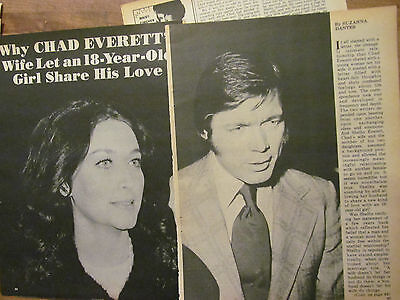 Chad Everett, Great Vintage Clipping