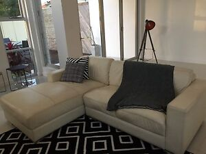 2 seats leather sofa + chaise + single seat + ottoman Woolooware Sutherland Area Preview