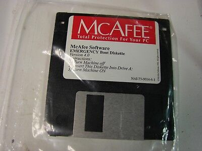 Mcafee emergency boot diskette 1.44 floppy version 4.0 sealed (Boot-diskette)