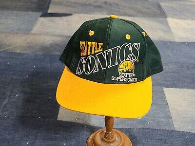 Vintage 90s Starter Seattle Supersonics NBA Basketball Snapback sports hat cap
