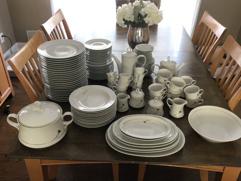 Mitterteich Bavaria 127 Piece China Set Antique Germany (4 tiny chips see pics)
