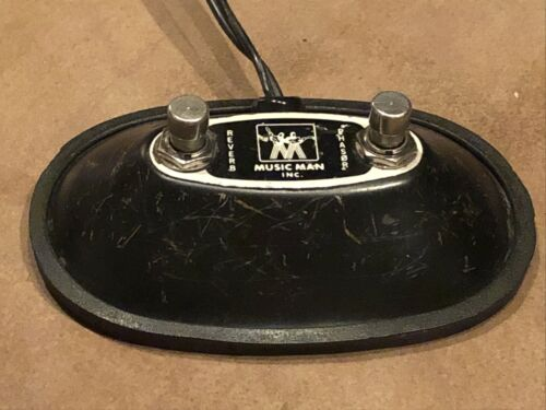 Vintage Music Man 2-button Amp Footswitch Dual-RCA Plugs Fender-style - $70.00