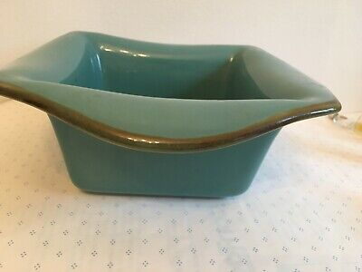 Southern Living at Home Square Baking Dish Turquoise Teal Tuscan Everyday Baker