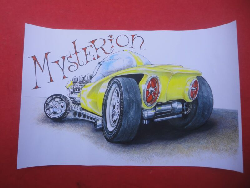 Ed Roth Mysterion Show Rod Car Art Print