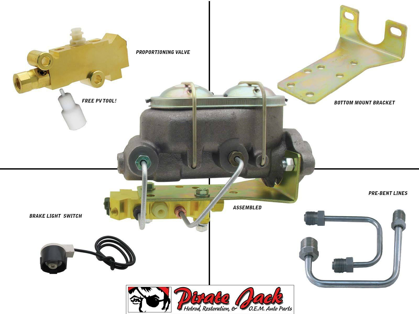 Brake Line Repair Kit >> Ford F-Series Truck Manual Master Cylinder Kit & Manual Rod Kit | eBay