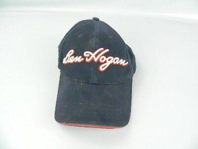 f4b7a435f7b NAVY BLUE Ben Hogan Golf Hat Black Puffy Logo