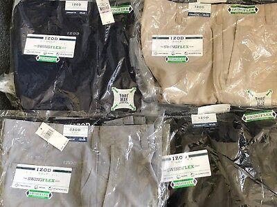 Men's Izod Swing Flex Straight Fit Stretch Golf Pants 32,34,36,38,40,42 Bagged