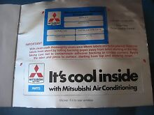 Mitsubishi Air Cond vintage decals x 2, NOS Flagstaff Hill Morphett Vale Area Preview