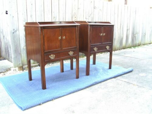 Drexel Chippendale Mahogany Nightstands