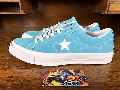 Converse One Star Pro Ox Suede Mens Skateboard Shoe Blue/White 158437C Size 9