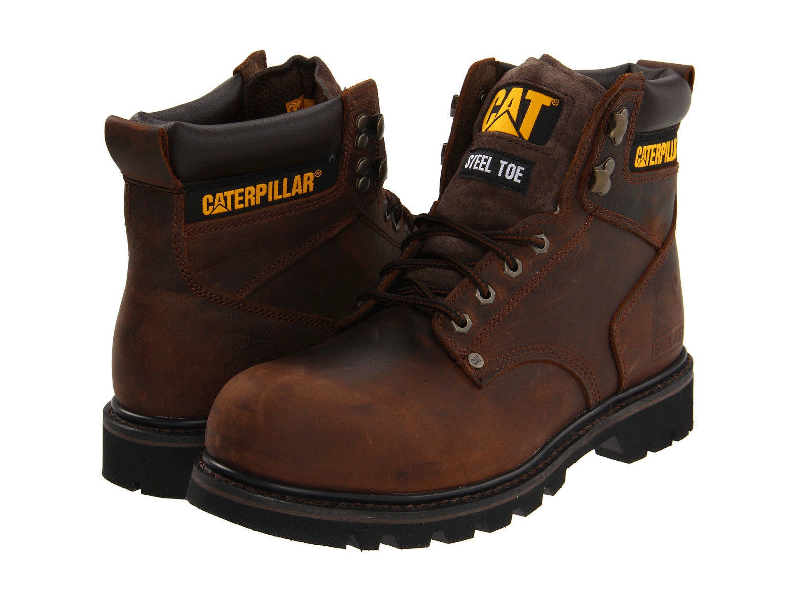 Men Caterpillar Second Shift Steel Toe Work Boot P89586 Dark Brown 100%Authentic