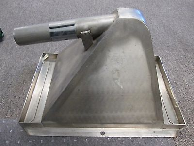 Plastics Granulator Vacuum Receiving Stainless Steel 1 38 Outlet Pan