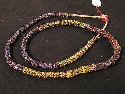 Antike Glasperlen Antique Venetian African trade Eja Aja Chevron beads Afrozip