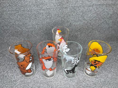 Ultra RARE Tasmanian devil,Pepe Lepew, Speedy,Foghorn & Spike Pepsi Glass 1973