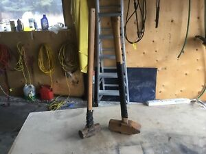 Vintage 16 lb Wedge Sledgehammer and a 6 lb sledge