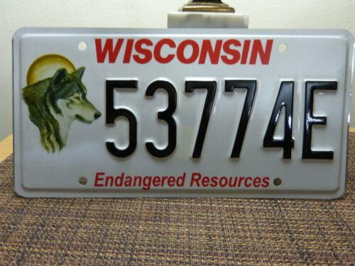 WISCONSIN LICENSE PLATE ENDANGERED RESOURCE WOLF