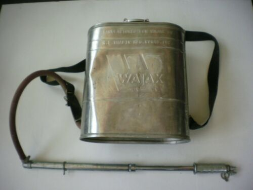 Vintage Wajax R.E. Chapin Stainless Backpack Brush Fire Sprayer Complete