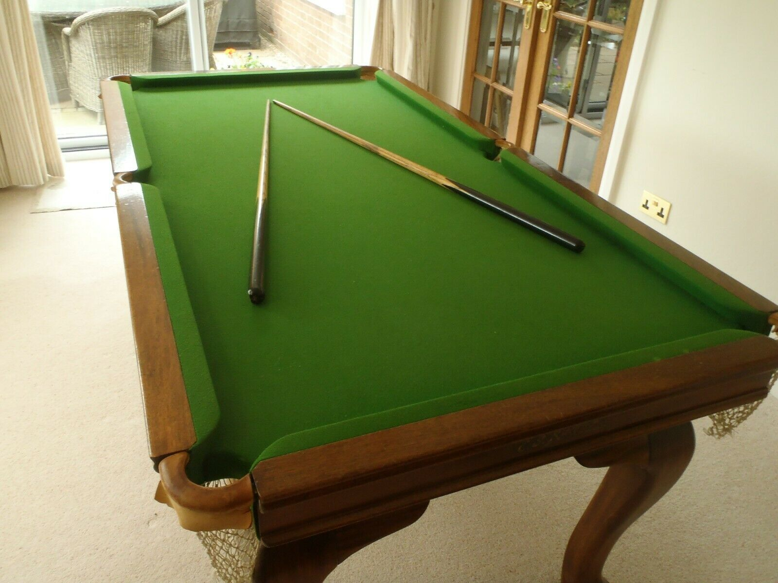 Antique Riley 6ft x 3ft Slate Mahogany Rise and Fall Snooker Dining Table